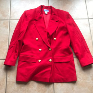 Vintage Pendleton Red Virgin Wool Jacket Size 10